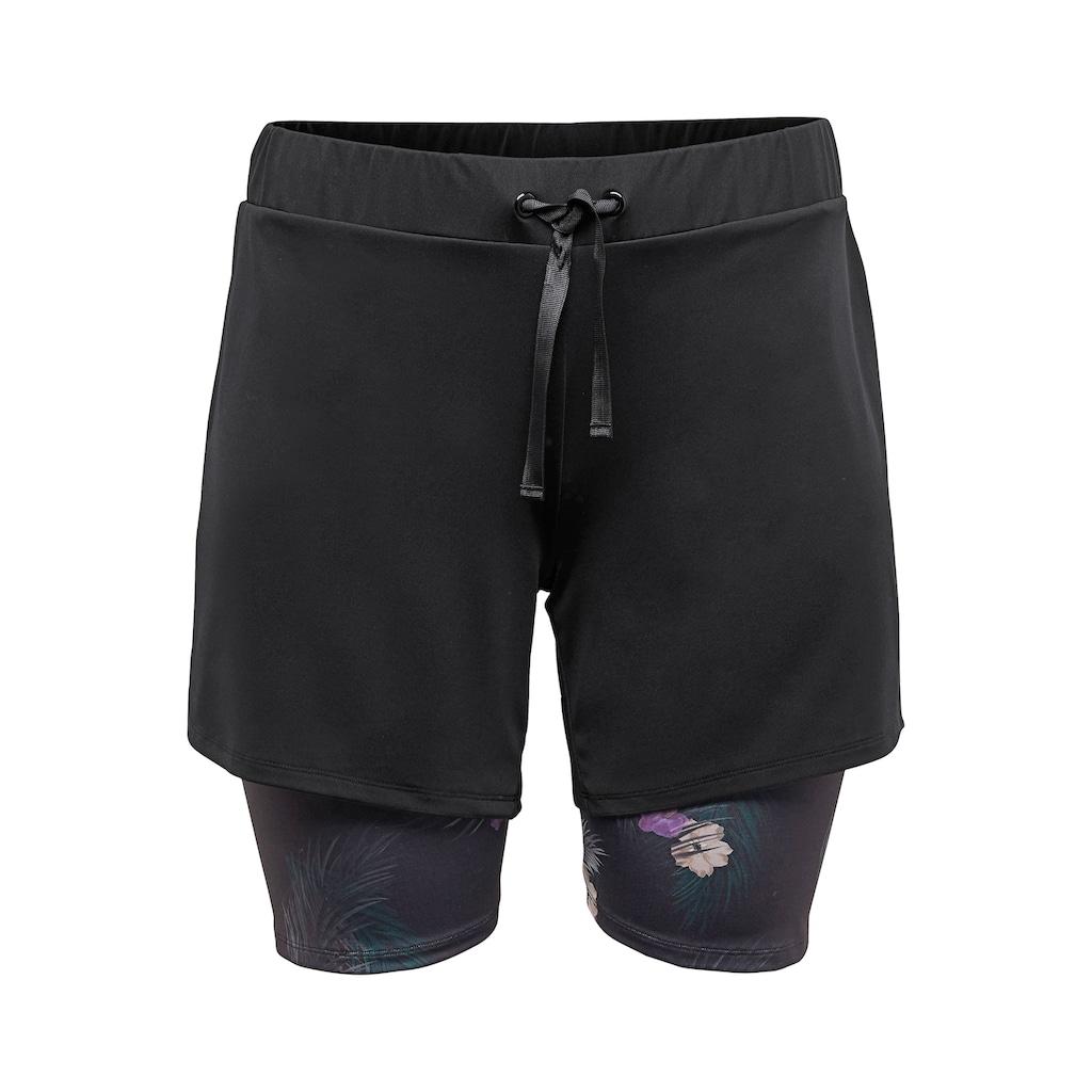 Sheego Bermudas, mit Leggingseinsatz