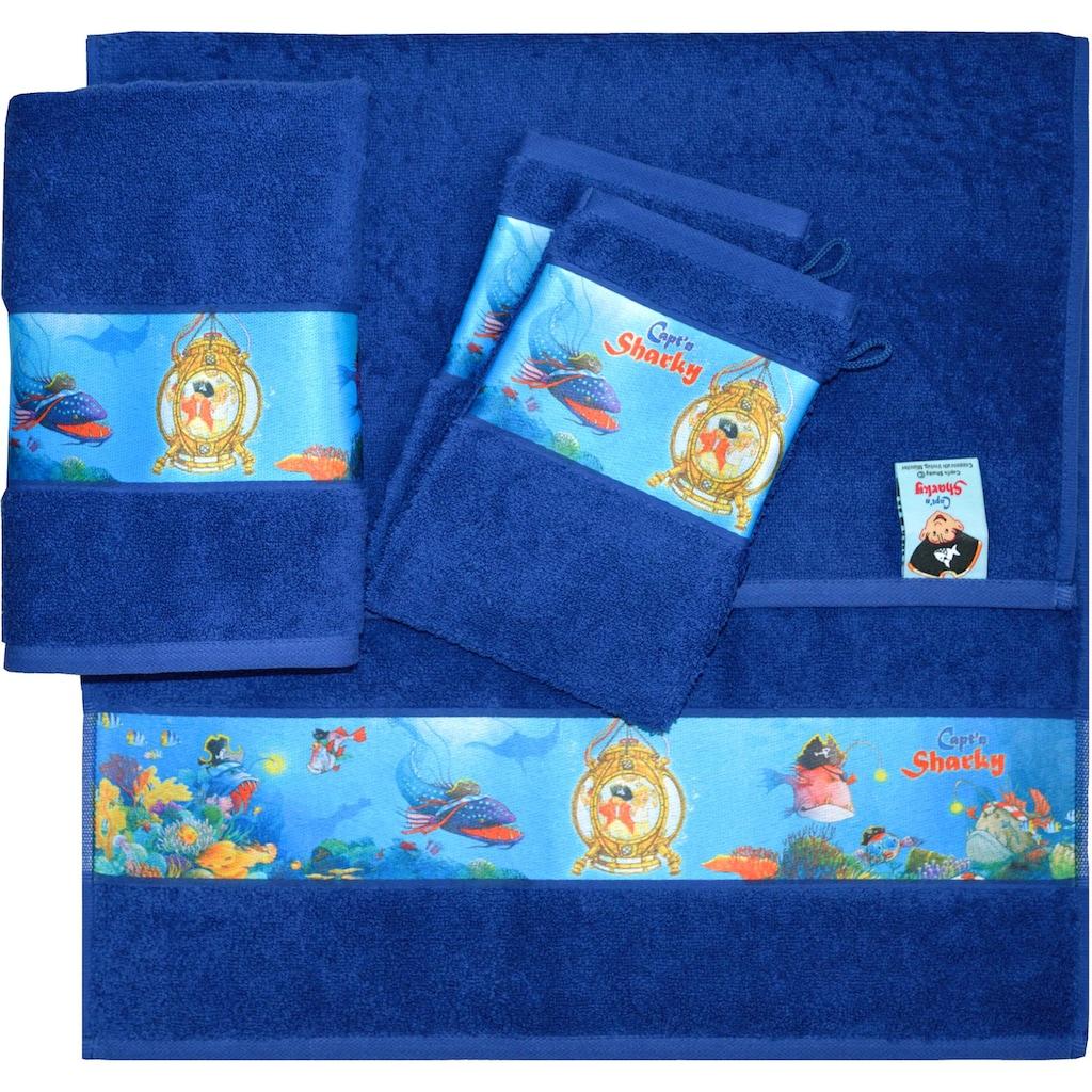 Capt`n Sharky Handtuch Set »Sharky«, mit Meeres Motiven