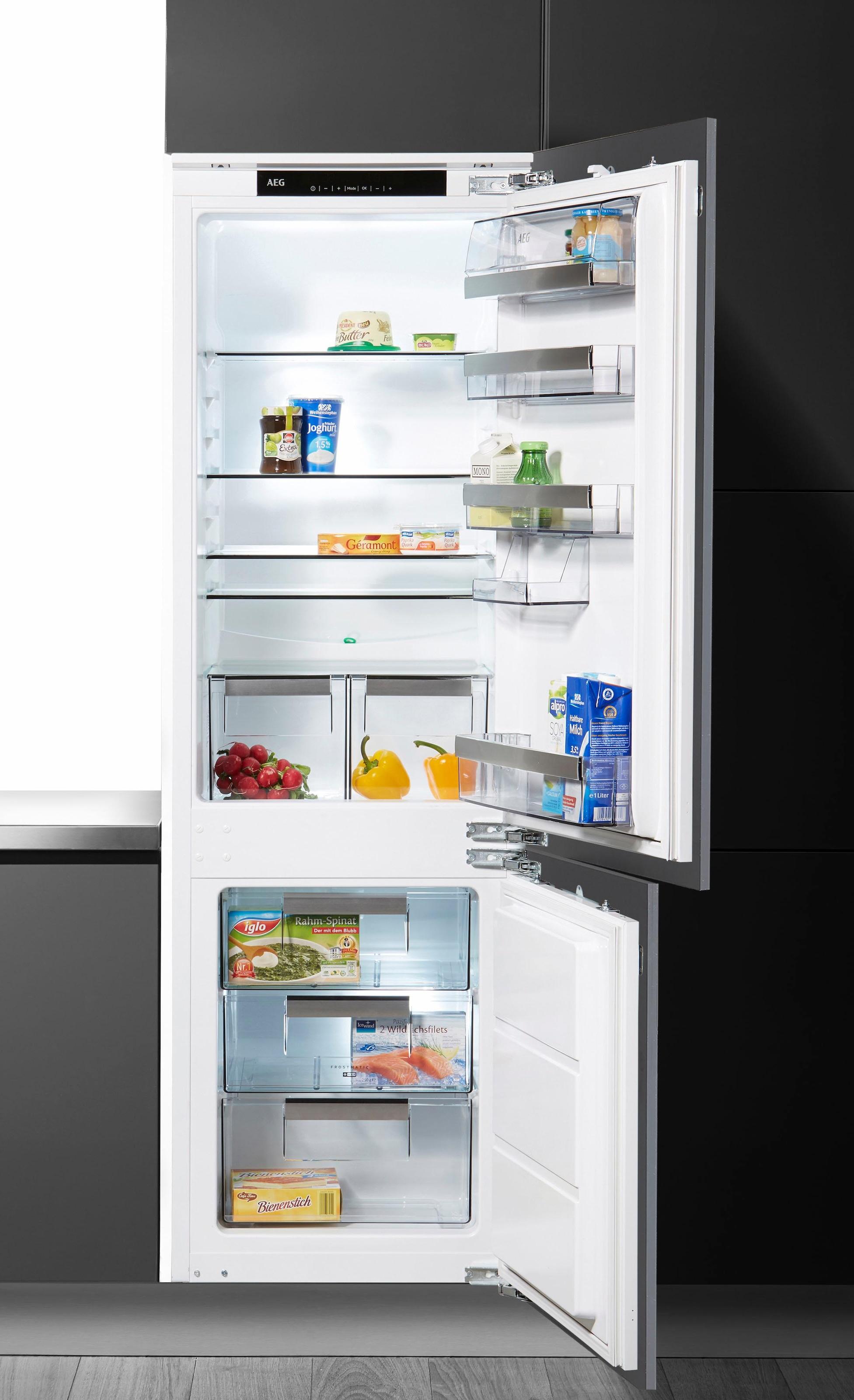 Aeg Kühlschrank Santo Temperatur Einstellen : Aeg einbau kühl gefrierkombination santo sce lc cm per