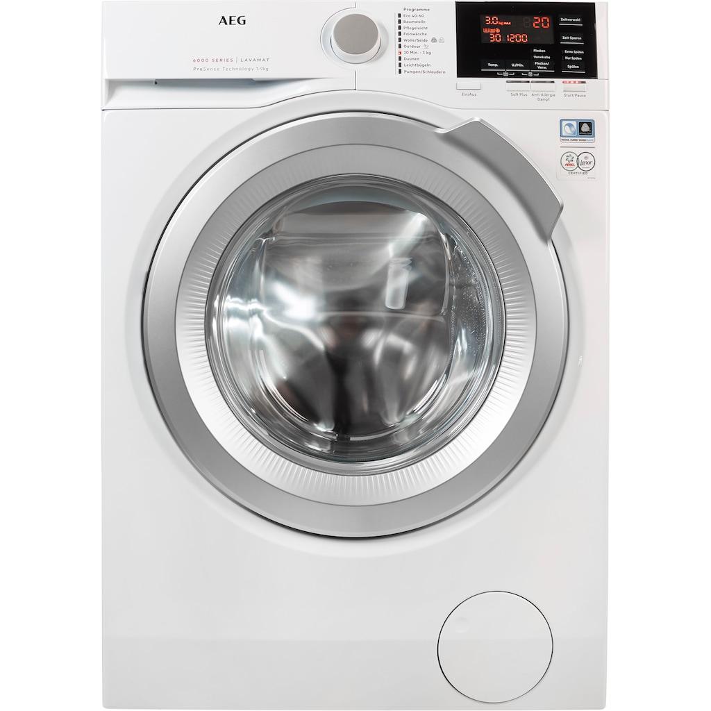 AEG Waschmaschine »L6FB49VFL«, Serie 6000, L6FB49VFL, 9 kg, 1400 U/min, mit Anti-Allergieprogramm