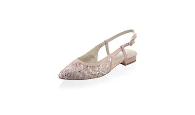 Alba Moda Sling Ballerina im Reptil - Look kaufen