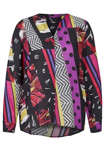 FRAPP Extravagante V - Bluse mit Mustermix Plus Size kaufen
