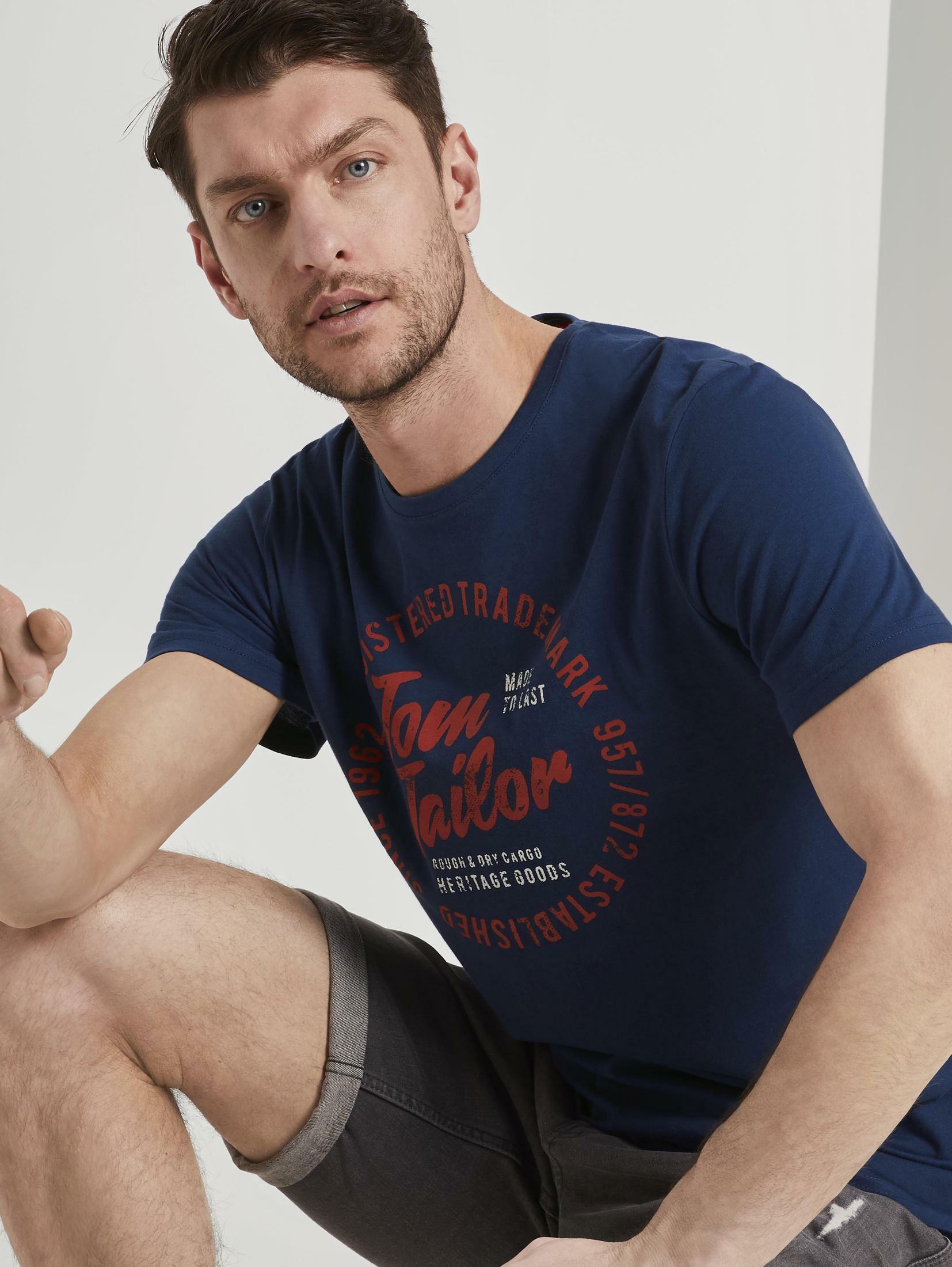 tom tailor -  T-Shirt T-Shirt mit Logo-Print