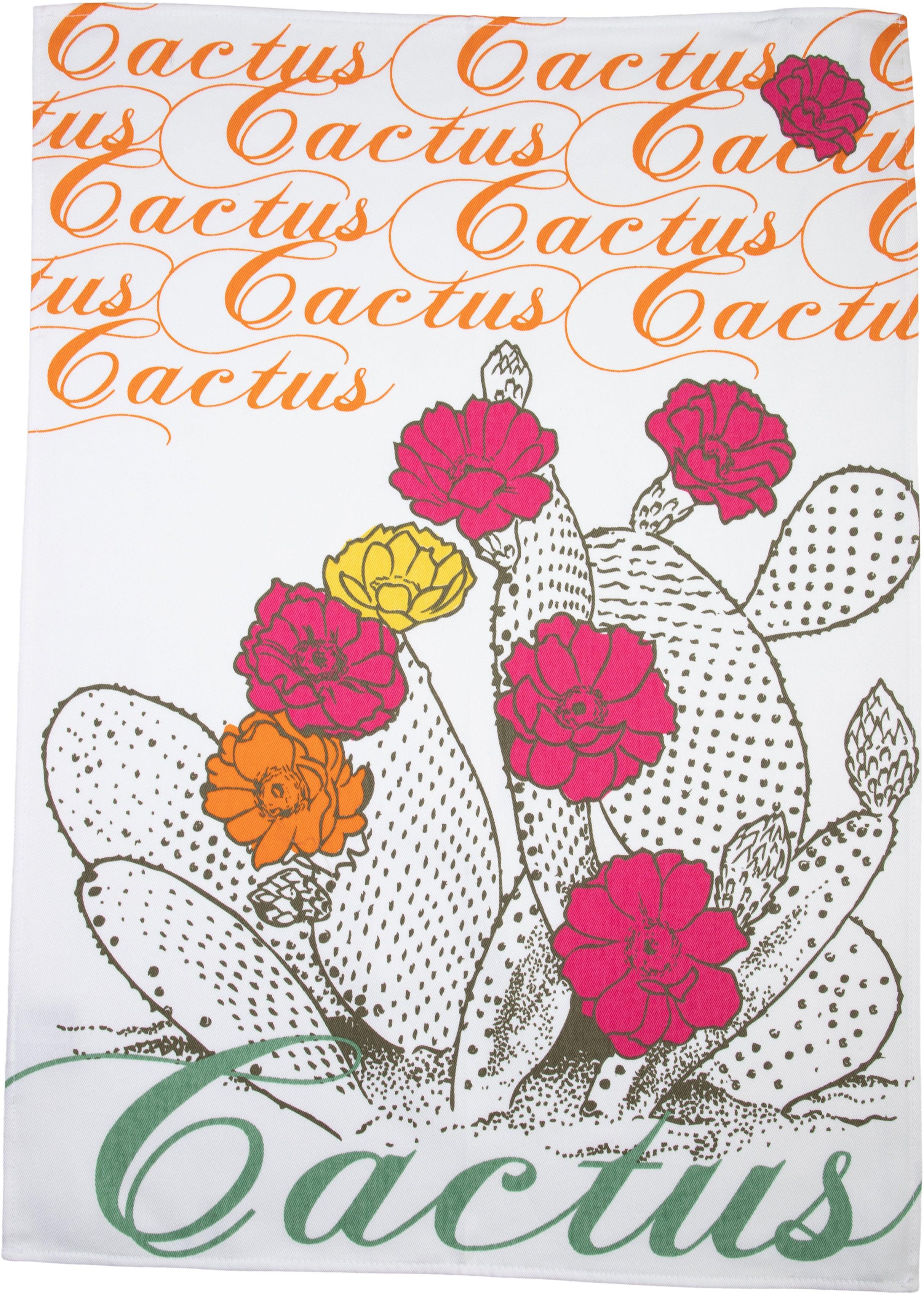 stuco Geschirrtuch Kaktus, (Set, 3 tlg.), bedruckt grün Geschirrtücher Küchenhelfer Haushaltswaren