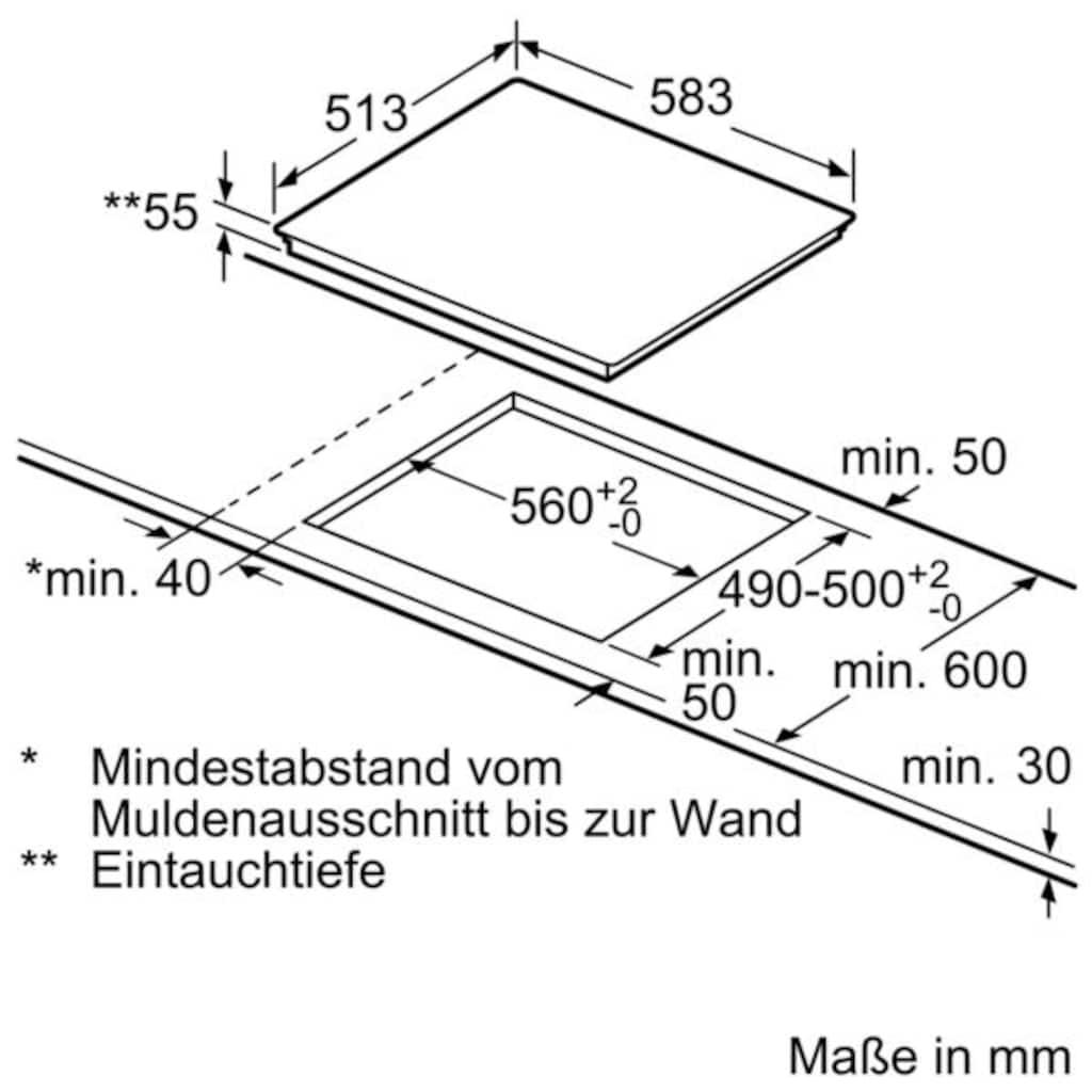SIEMENS Induktions Herd-Set »EQ521IB00«, HE517BBS1, (Set), mit cookControl 10