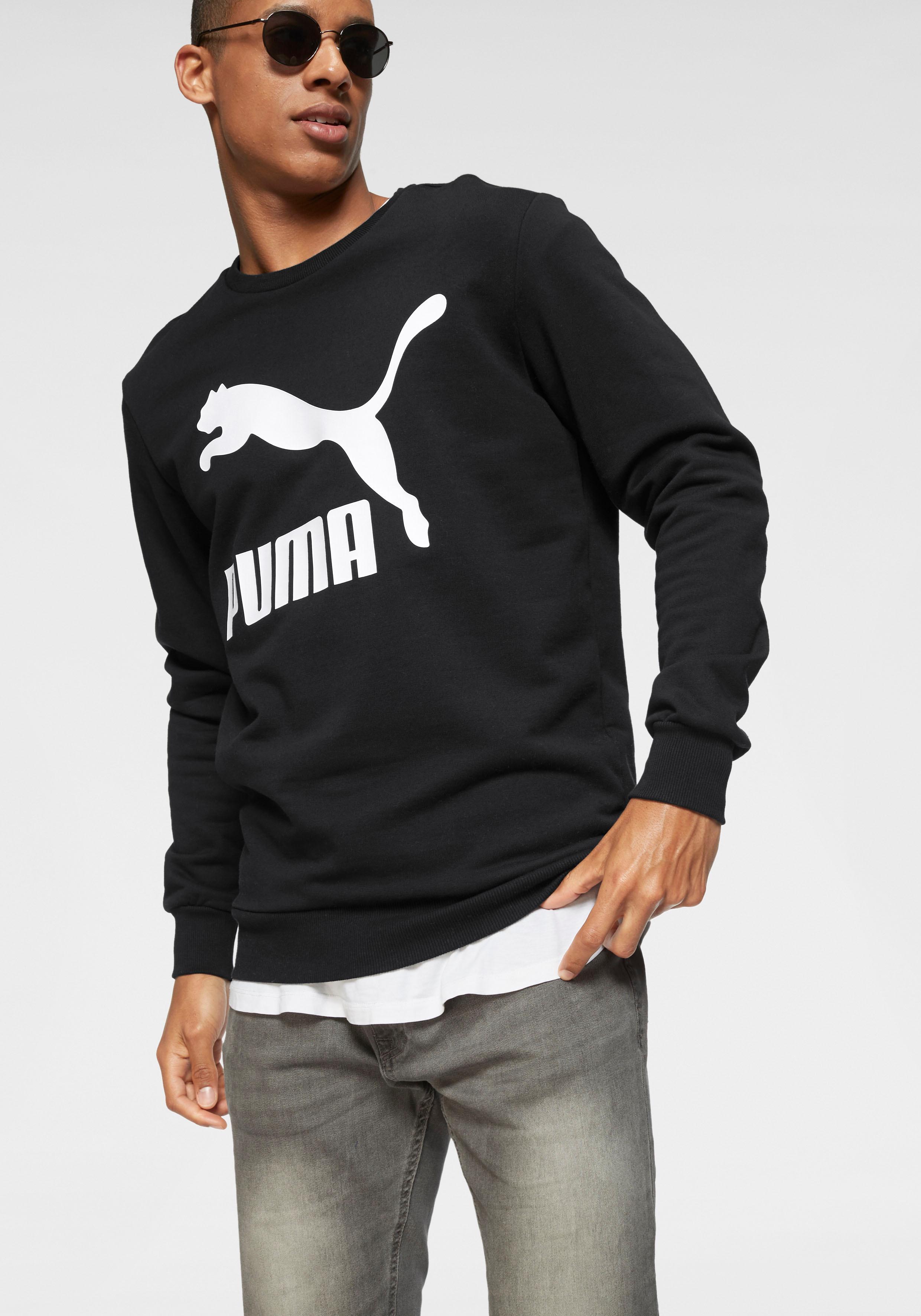 PUMA Sweatshirt CLASSICS LOGO CREW | Bekleidung > Sweatshirts & -jacken > Sweatshirts | Puma