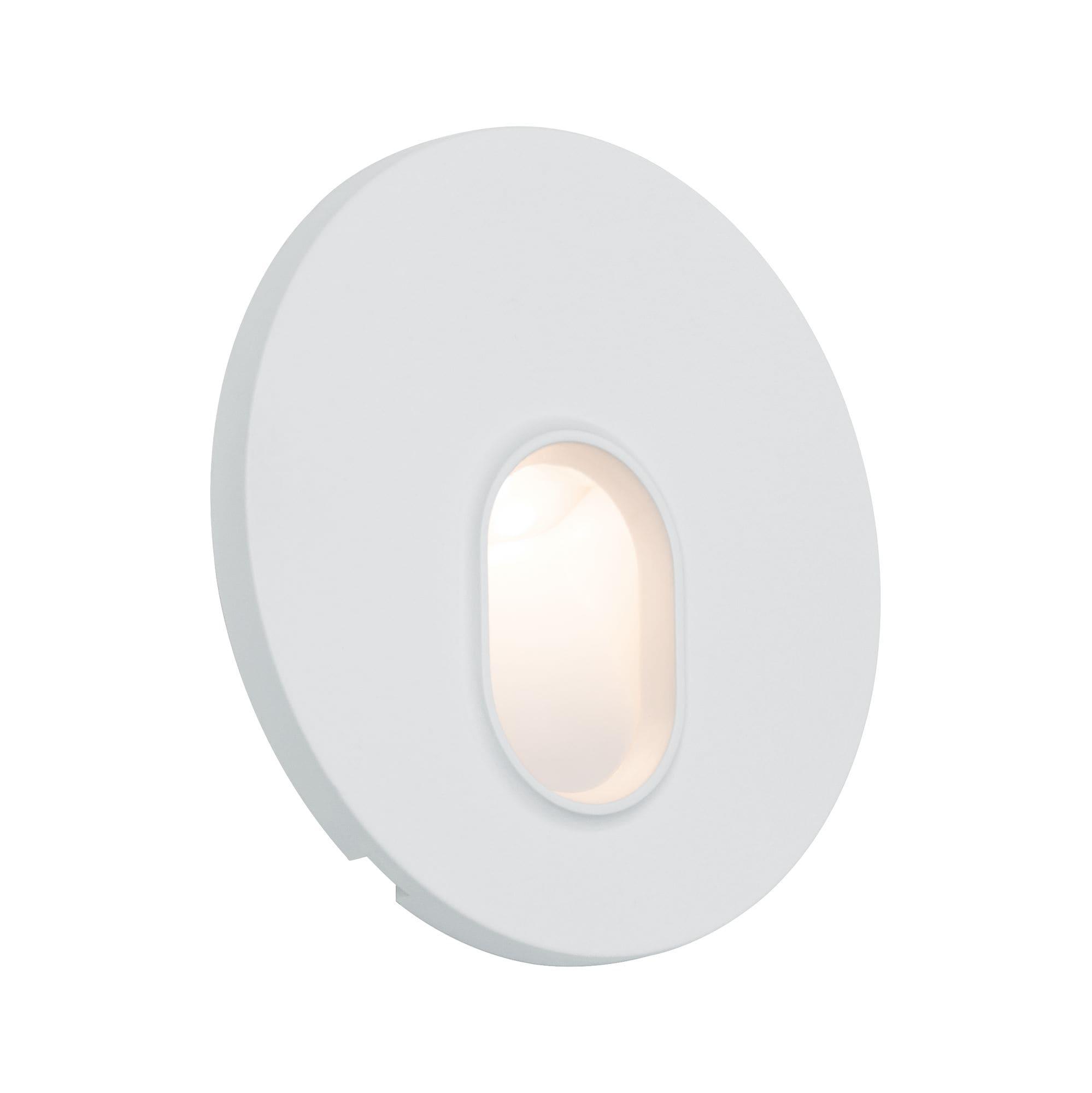 Paulmann,LED Wandleuchte Einbauleuchte rund Weiß 1,7W