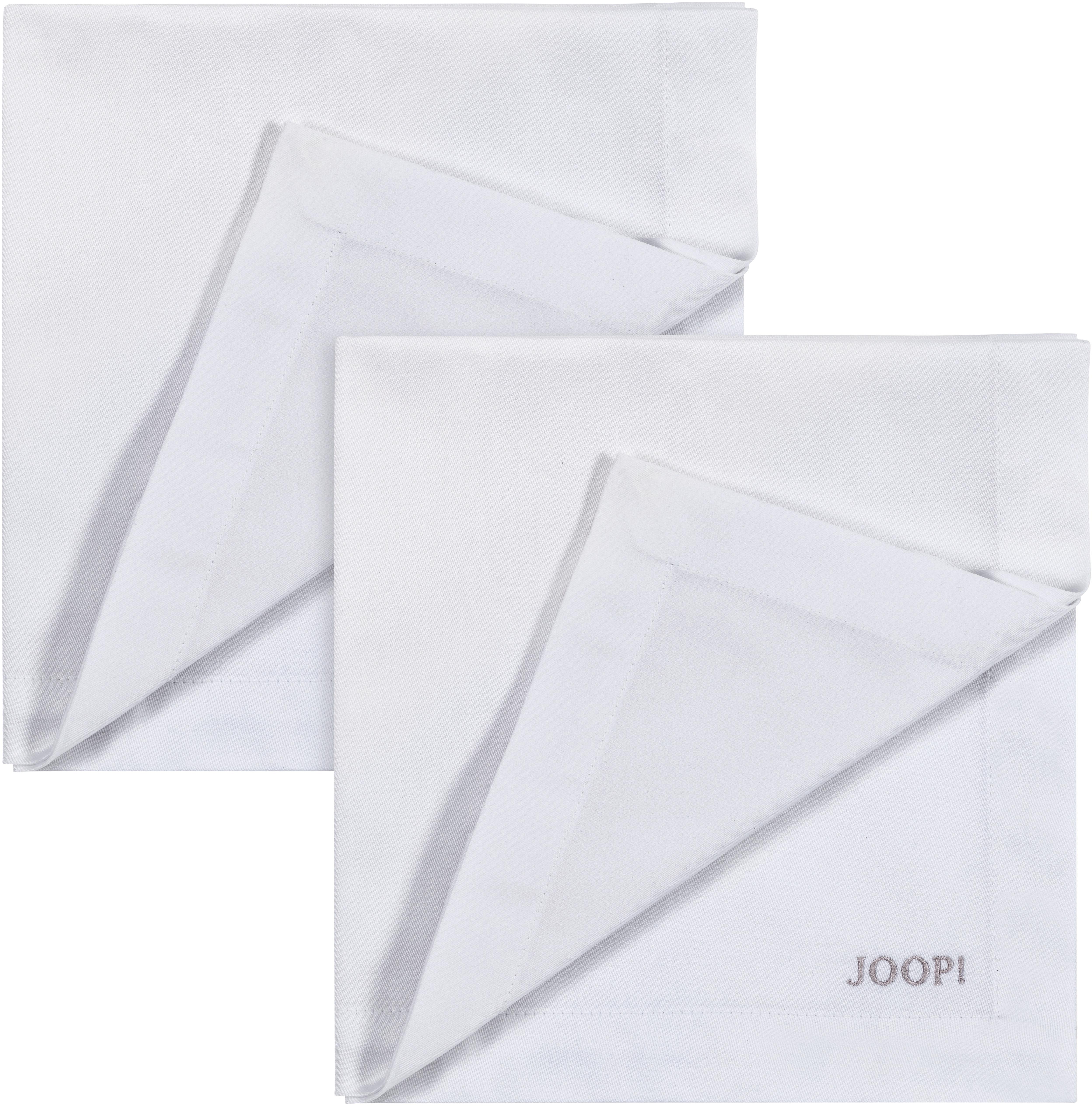 Joop! Joop Stoffserviette STITCH, In Vollzwirn-Qualität mit JOOP Logo- und Kornblumen-Stickerei beige Stoffservietten Tischwäsche