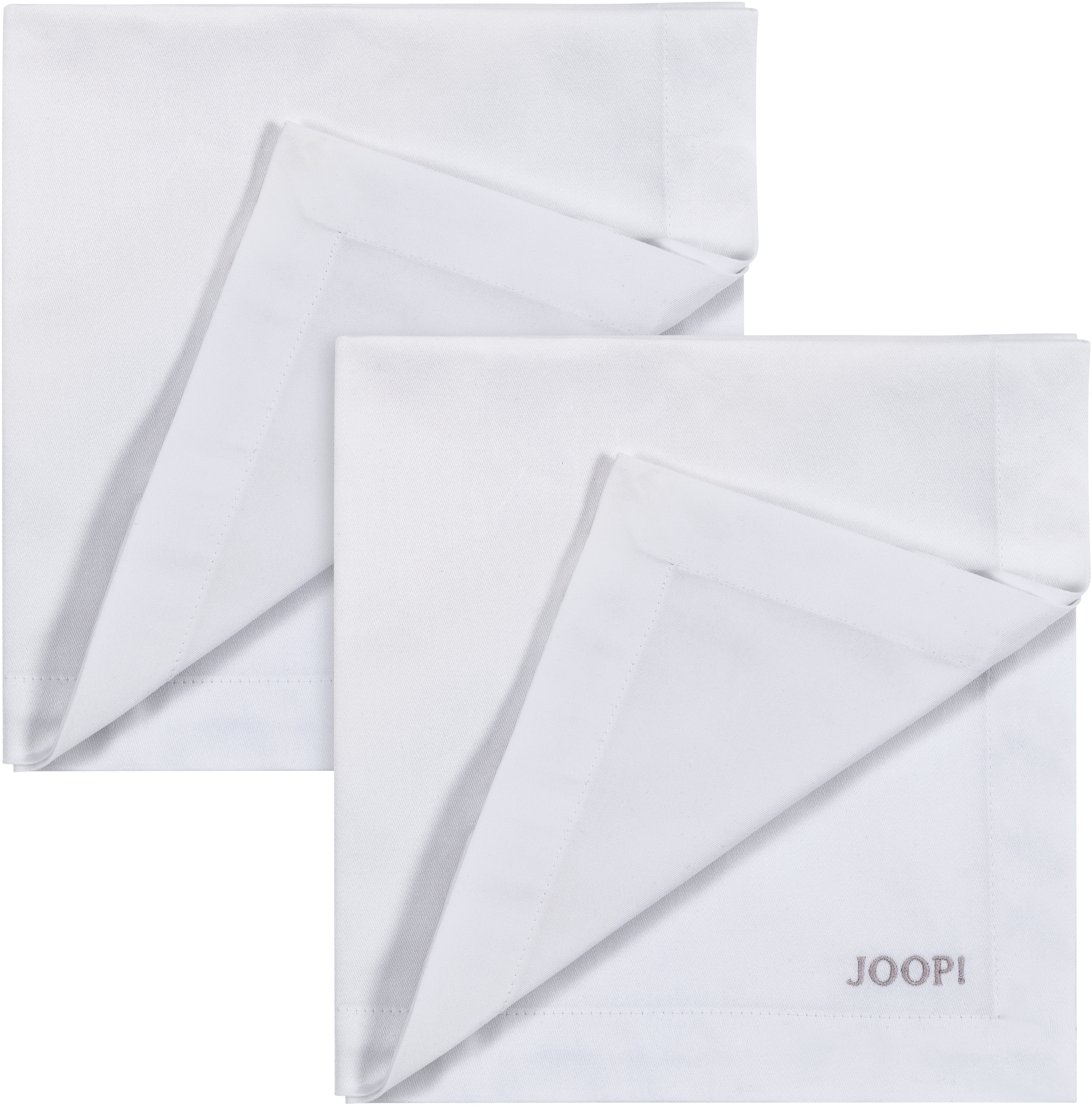 Joop! Joop Stoffserviette STITCH, (Set, 2 St.), In Vollzwirn-Qualität mit JOOP Logo- und Kornblumen-Stickerei beige Stoffservietten Tischwäsche