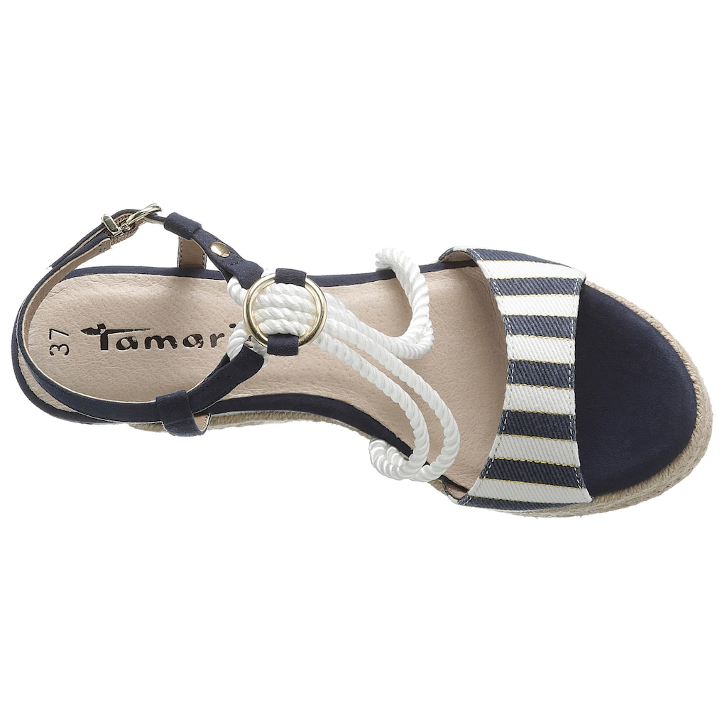 Tamaris Sandalette »Cynara«, im maritimen Look