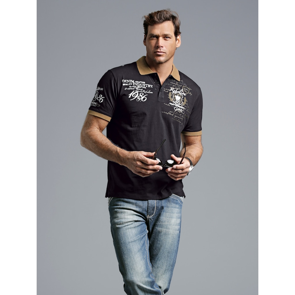 Men Plus by HAPPYsize Poloshirt, aus reiner Baumwolle