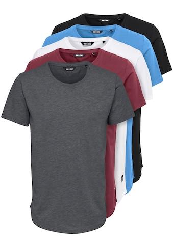 ONLY & SONS T-Shirt »MATT LIFE LONGY SS TEE 5-PACK« kaufen