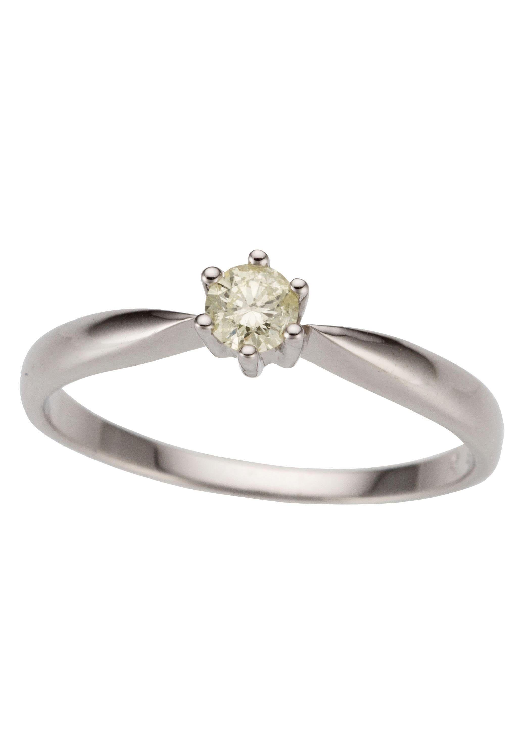 Firetti Fingerring Verlobungsring Vorsteckring Solitär Weißgold | Schmuck > Ringe > Fingerringe | Firetti