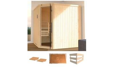 WEKA Sauna »Varberg 3«, 194x194x199 cm, ohne Ofen, Glastür kaufen