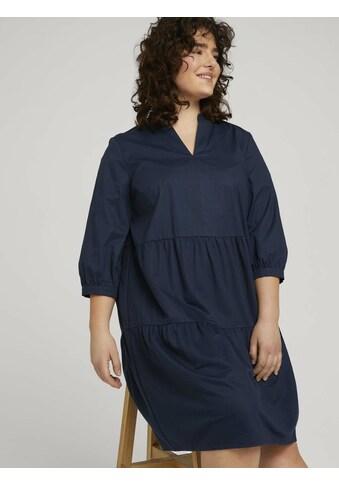 TOM TAILOR MY TRUE ME Volantkleid »Curvy - Kleid mit Raffungen« kaufen