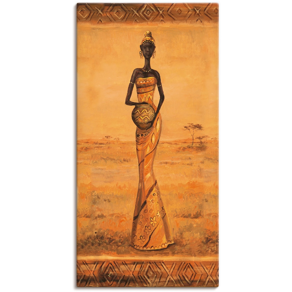 Artland Wandbild »Afrikanische Eleganz III«, Frau, (1 St.)