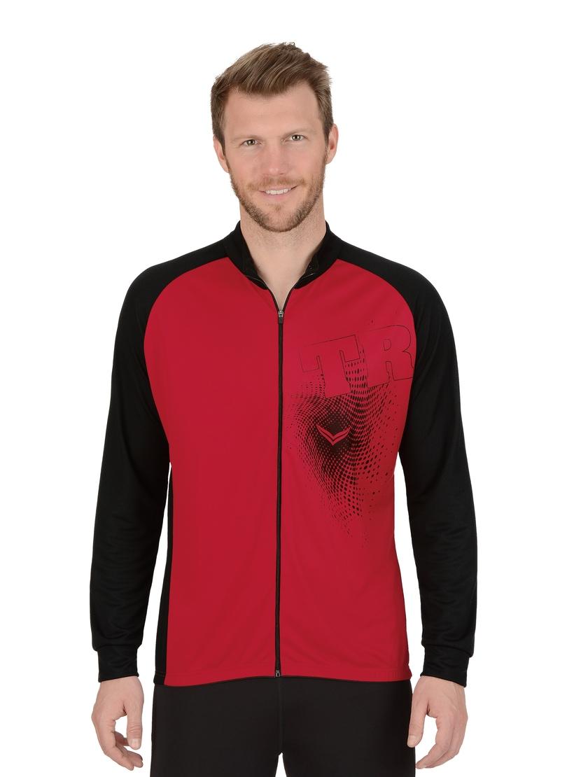 TRIGEMA Langarm Radjacke COOLMAX® | Sportbekleidung > Sportjacken > Fahrradjacken | Rot | Polyester | Trigema