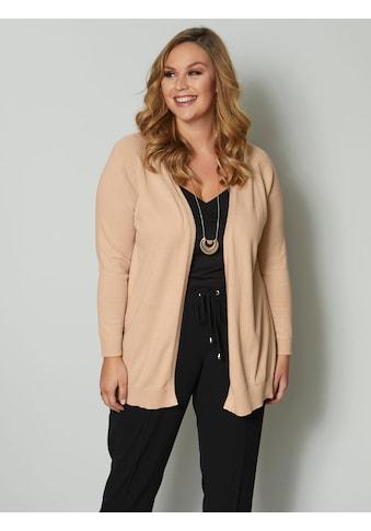 Sara Lindholm by HAPPYsize Strickjacke, aus reiner Baumwolle kaufen