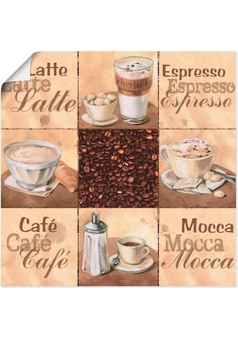 Artland Wandbild »Kaffee Collage II«, Getränke, (1 St.), in vielen Größen &... kaufen