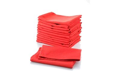 Stoffserviette, »Uni - Rot«, Home affaire (Set, 12 - tlg.) kaufen