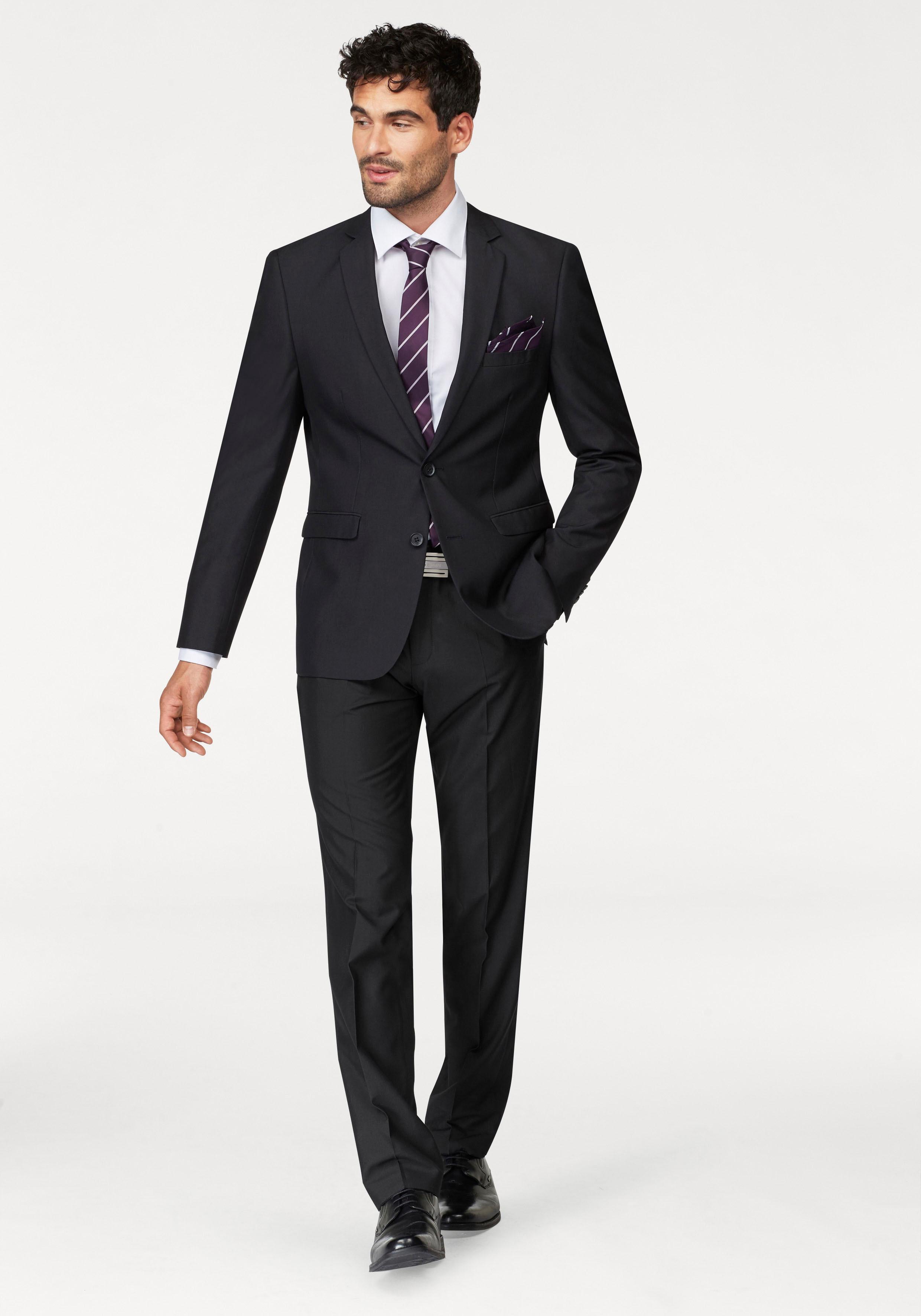 Bruno Banani Anzug (Set, 4 tlg., mit Krawatte und Einstecktuch) | Bekleidung > Anzüge & Smokings | Bruno Banani