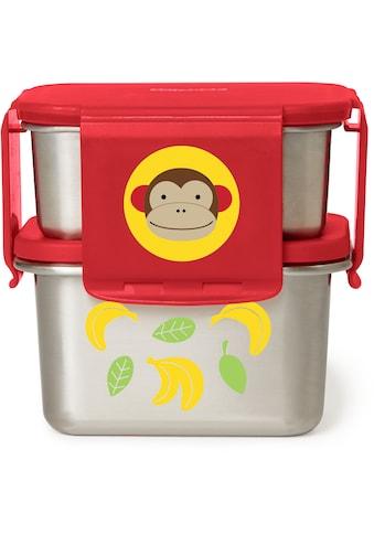 Skip Hop Lunchbox »Zoo Edelstahl-Lunch-Set Affe«, (2 tlg.), mit Verbindungsclips zum Stapeln kaufen