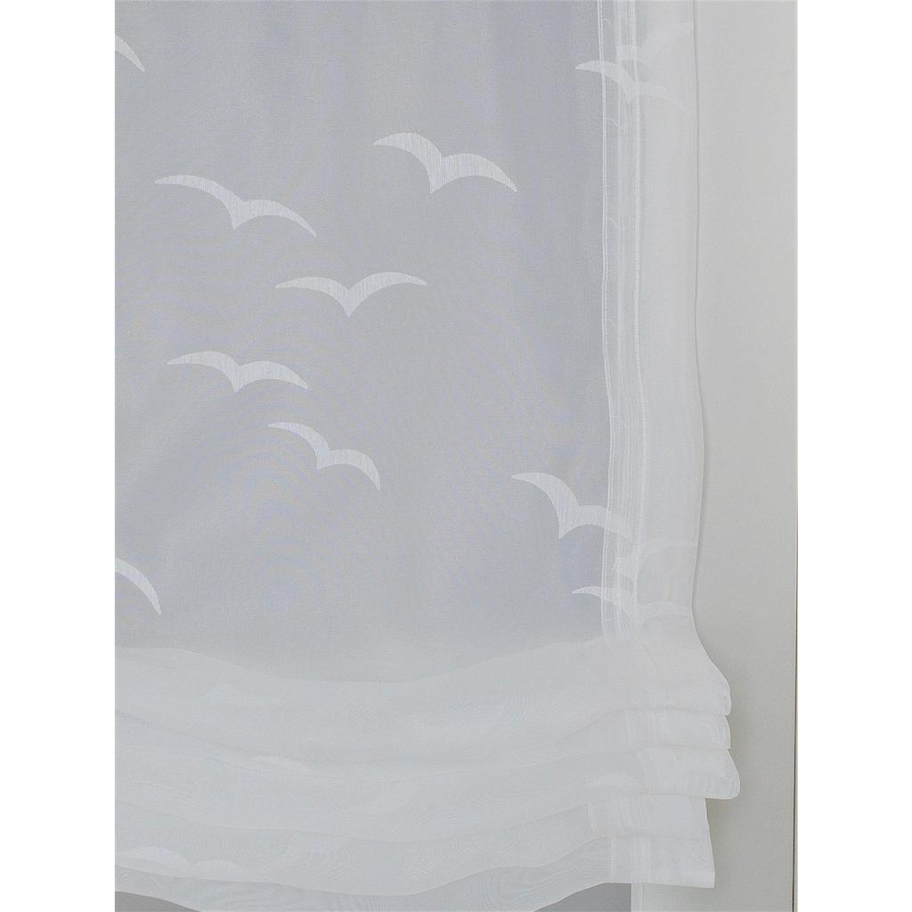 Raffrollo »Seabird«, Kutti, mit Hakenaufhängung, freihängend