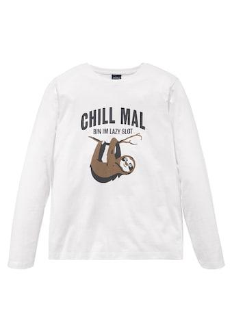 Arizona Langarmshirt »CHILL MAL....« kaufen