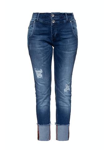 ATT Jeans Boyfriend-Jeans »Kira«, im Used Look mit Beinaufschlag kaufen