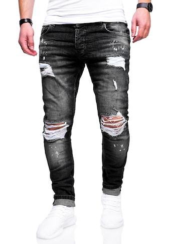 behype Slim-fit-Jeans »SLY«, mit Destroyed-Elementen kaufen