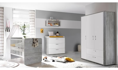 Babyzimmer-Komplettset »Aarhus«, (Set, 3 tlg.), Bett + Wickelkommode + 3 trg. Schrank kaufen