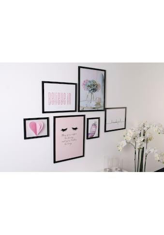 my home Bilderrahmen »Rahmenset«, (Set, 6 St.), Fotorahmen, schwarz; Bildformat 18x24... kaufen