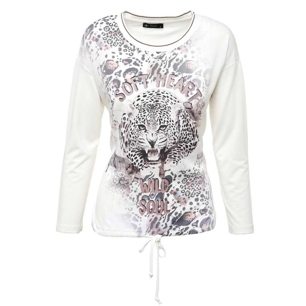 Decay Langarmshirt, mit coolem Leoparden-Aufdruck