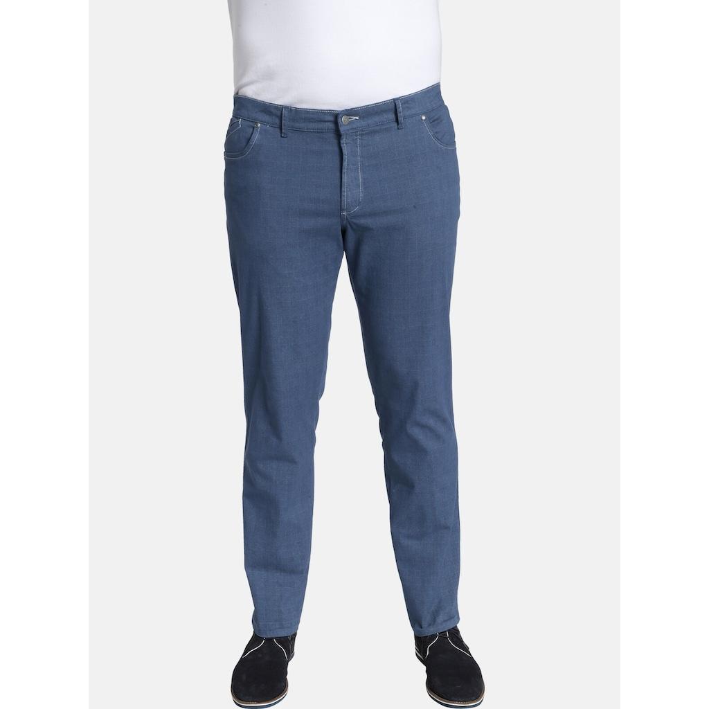 Charles Colby 5-Pocket-Hose »BARON TROY«, mit Karodruck