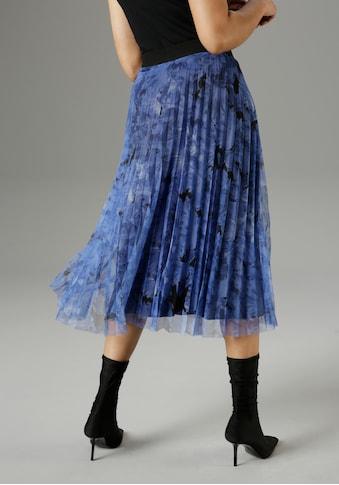 Aniston SELECTED Meshrock, mit eingelegten Plisseefalten - NEUE KOLLEKTION kaufen