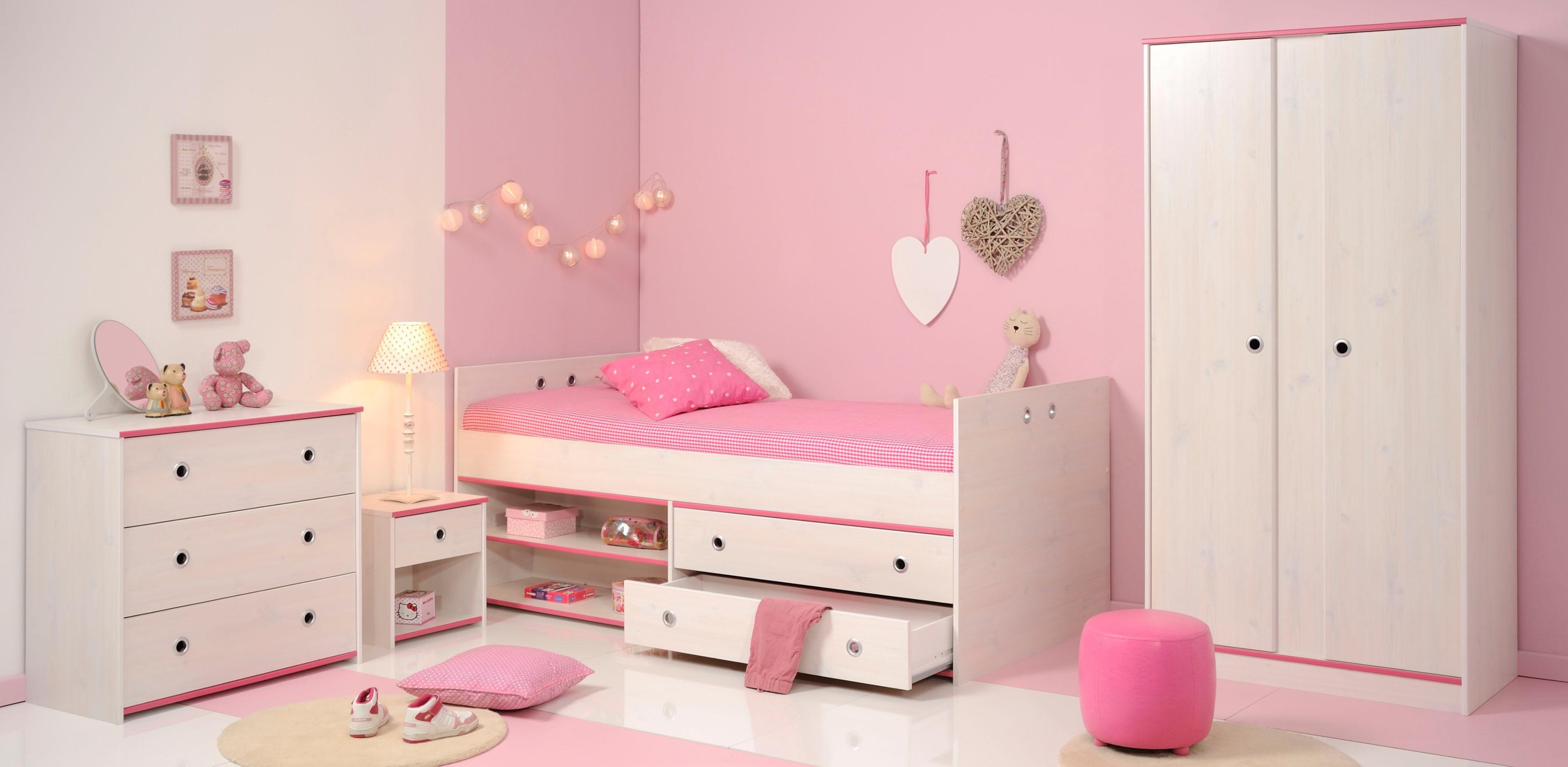 Parisot Jugendzimmer-Set Smoozy (Set 4-tlg) | Kinderzimmer > Jugendzimmer > Komplett-Jugendzimmer | Weiß | Parisot