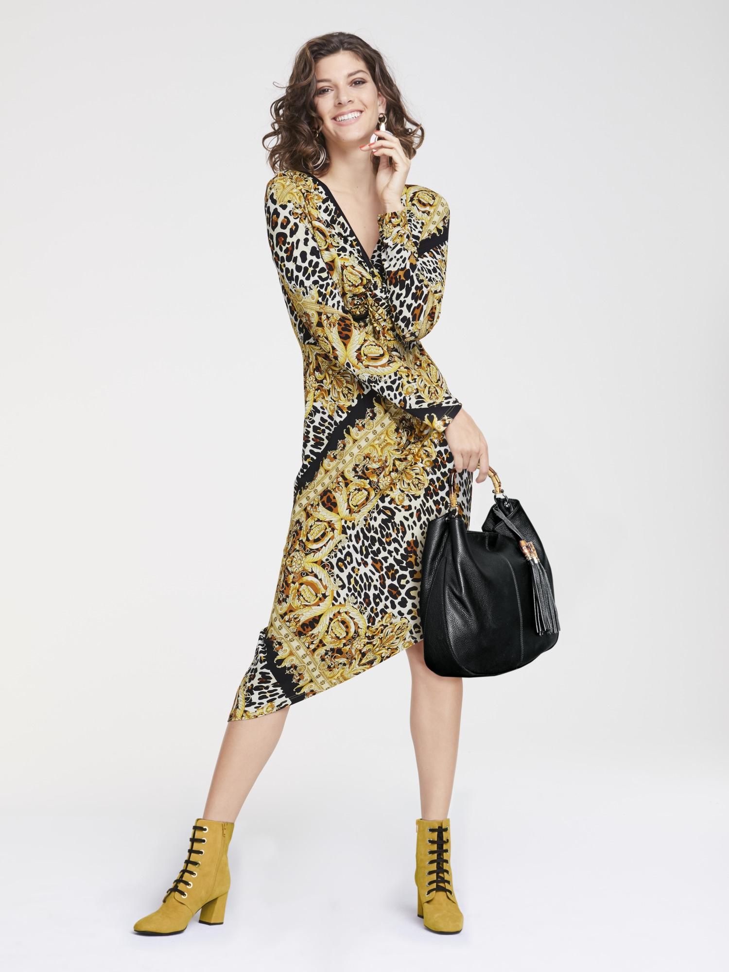 heine STYLE Jerseykleid mit asymmetrischem Saum