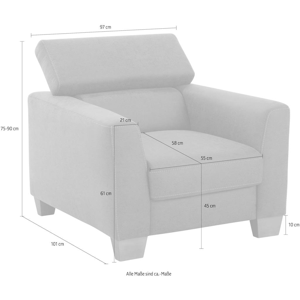 Home affaire Sessel »Steve Luxus«, mit besonders hochwertiger Polsterung für pro Sitzfläche, bis 140 kg