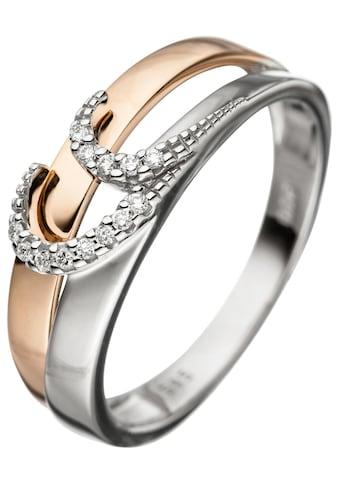 JOBO Diamantring, 585 Gold bicolor mit 13 Diamanten kaufen