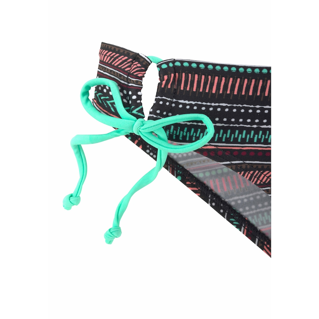 Buffalo Push-Up-Bikini, mit Ethnodesign und geflochtenen Bändern im Rücken