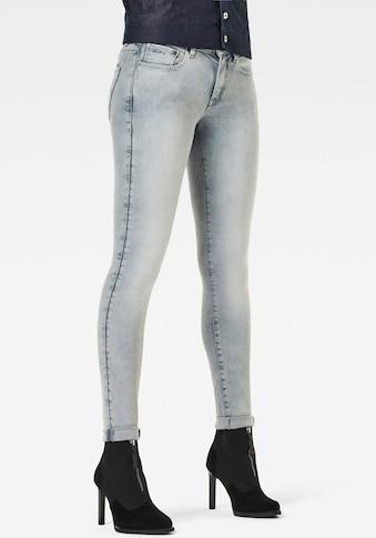 G-Star RAW Skinny-fit-Jeans »3301 Mid Skinny Jeans«, klassisches 5-Pocket-Design im authentischen Westernlook kaufen