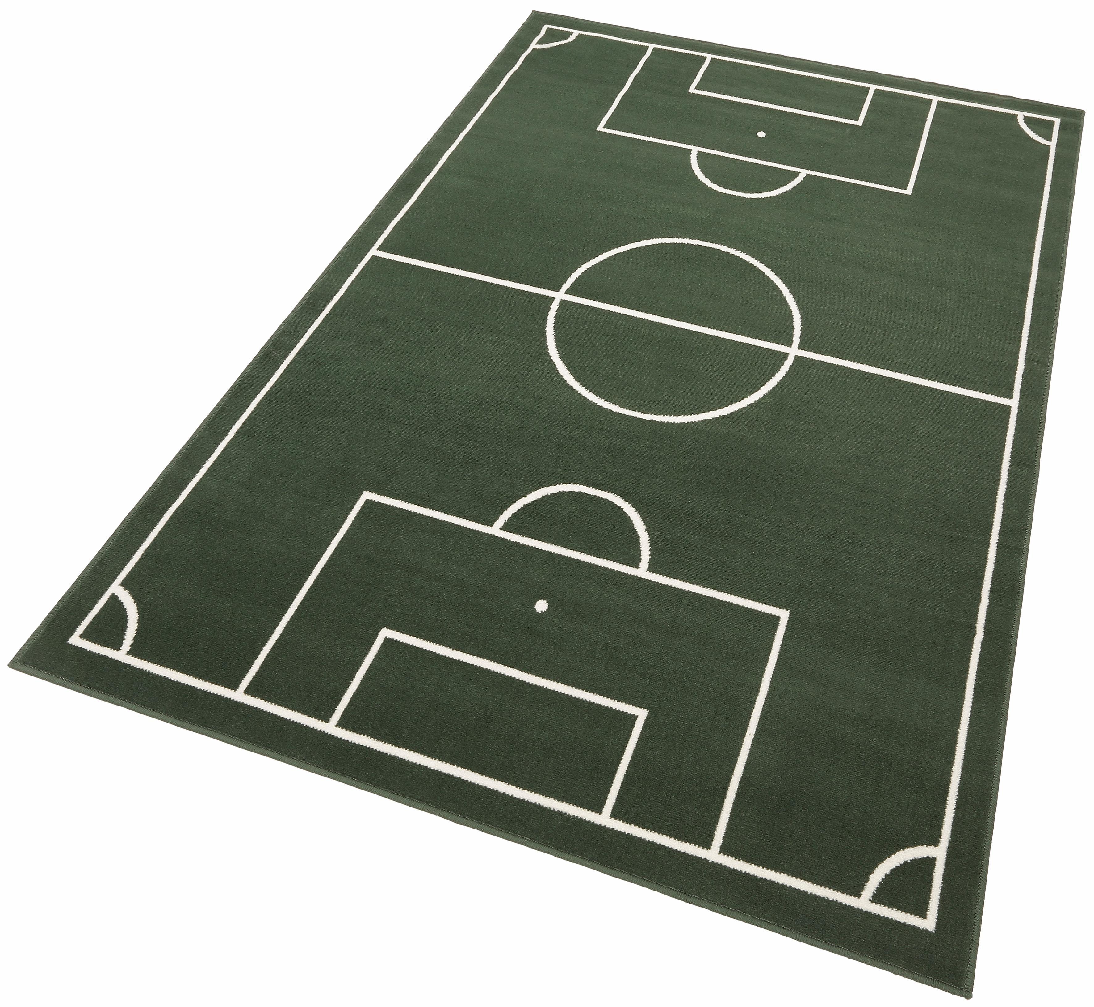 Kinderteppich Fussballplatz HANSE Home rechteckig Höhe 9 mm maschinell gewebt