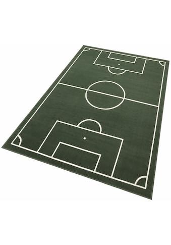Kinderteppich, »Fussballplatz«, HANSE Home, rechteckig, Höhe 9 mm, maschinell gewebt kaufen