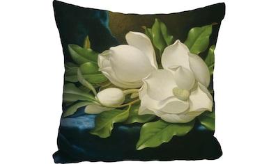 queence Kissenhülle »»weiße Blüte««, (1 St.) kaufen