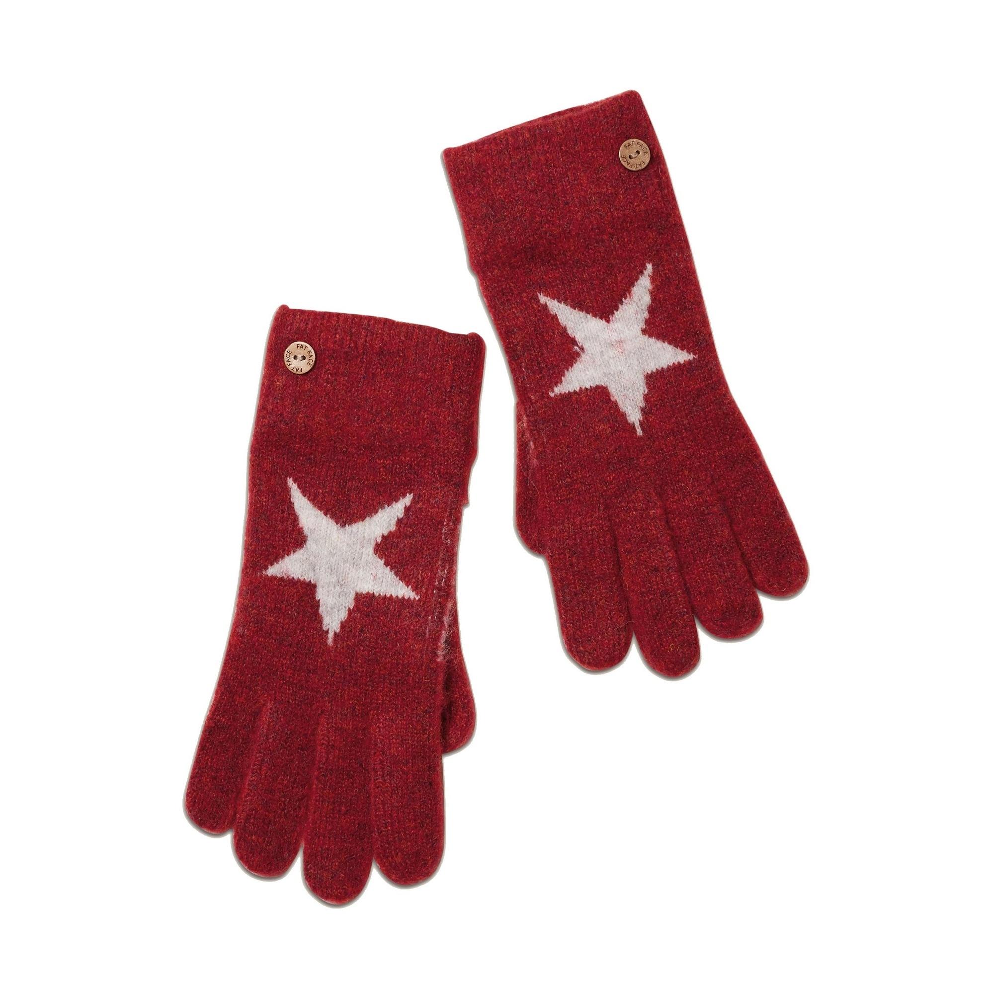 FatFace Strickhandschuhe Damen Handschuhe mit Sternemotiv | Accessoires > Handschuhe > Strickhandschuhe | Fatface