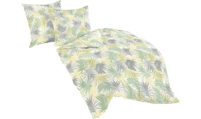 BIERBAUM Bettwäsche »Green Patterned«, mit floralem Muster kaufen
