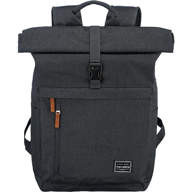 travelite Laptoprucksack »Basics Rollup, Anthrazit«