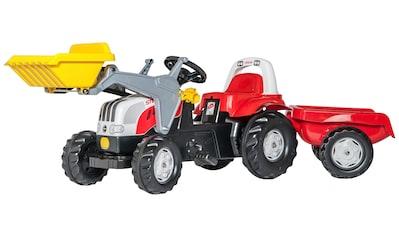 ROLLY TOYS Tretfahrzeug »Steyr CVT 6165«, Traktor mit Trailer und Lader kaufen