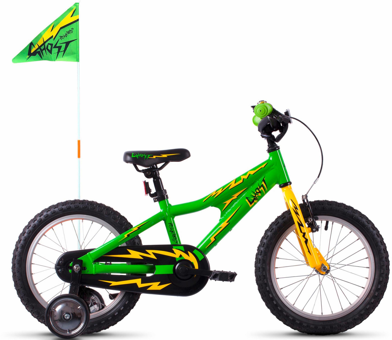 Ghost Kinderfahrrad POWERKID AL 16 K grün Kinder Kinderfahrräder Fahrräder Zubehör Fahrrad