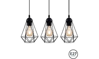 B.K.Licht LED Pendelleuchte, E27, LED Hängelampe schwarz Metall Draht Vintage Retroleuchte Industriell E27 kaufen